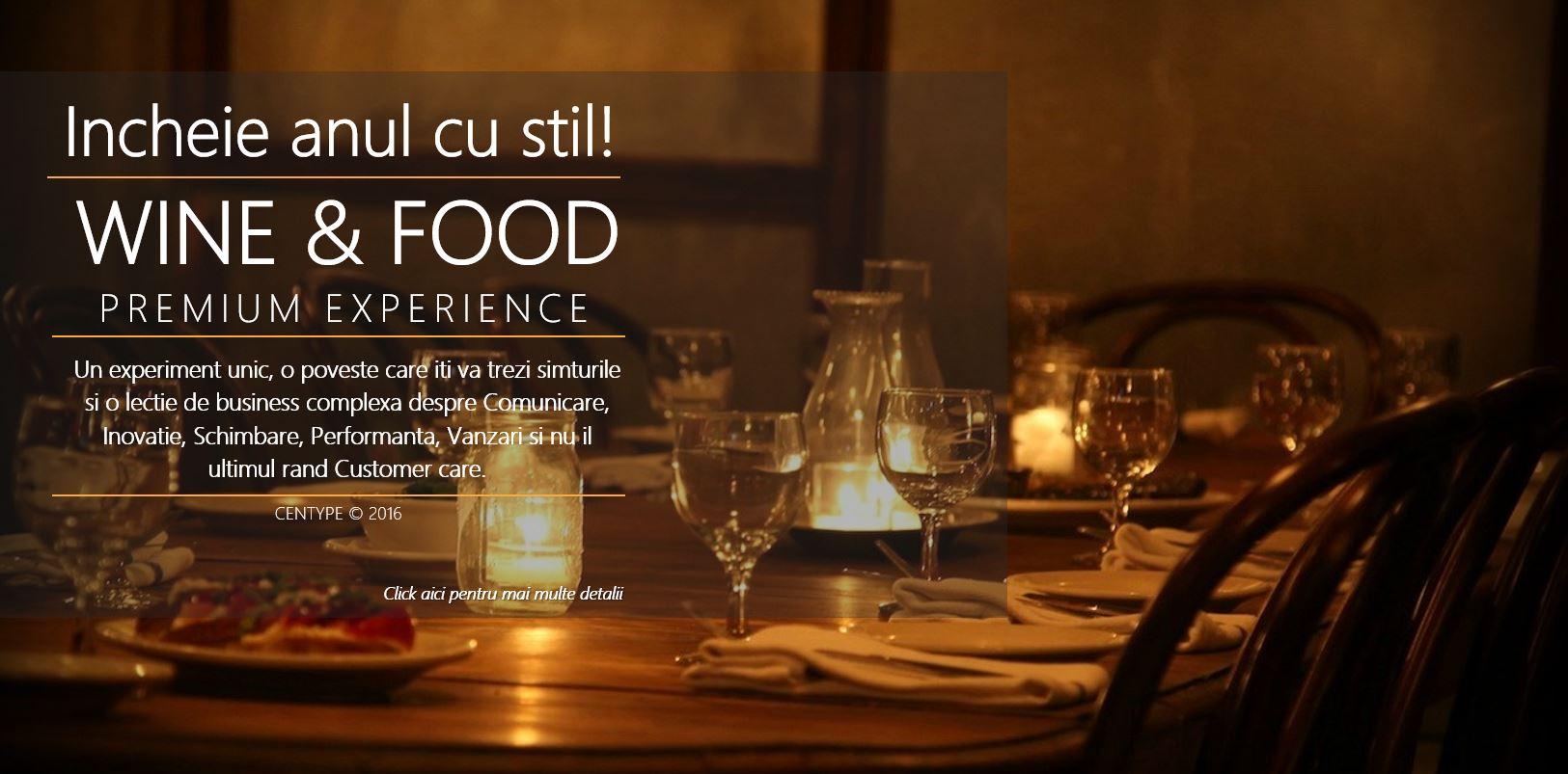 Wine and food paring Premium Experience Centype
